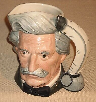 Vintage Pottery Toby Character ROYAL DOULTON Mark Twain D6654 Large 63k