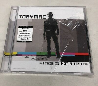 TobyMac, This Is Not A Test. CD NEW * DAMAGED SHRINKWRAP AND MINOR CRACKS*