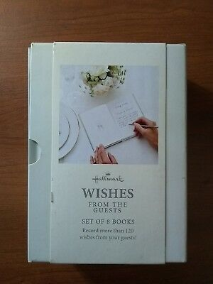 Hallmark Wishes From The Guests. Set Of 8 Books For Wedding