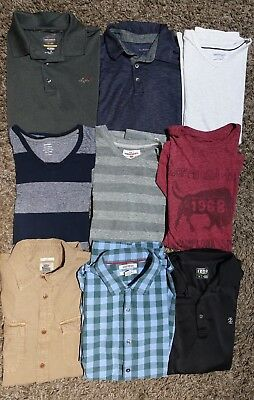 9 Shirts for Men - Lot (IZOD, Greg Norman, Lucky Brand, Goodthreads....)