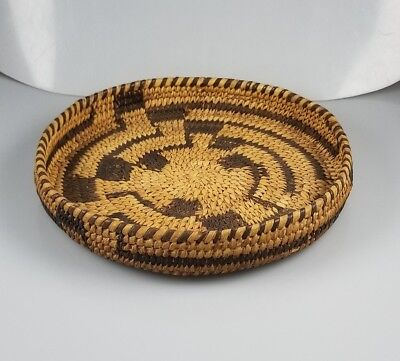 Vintage Pima Papago Native American Indian Basket - Bowl - Container – 7 5/8""