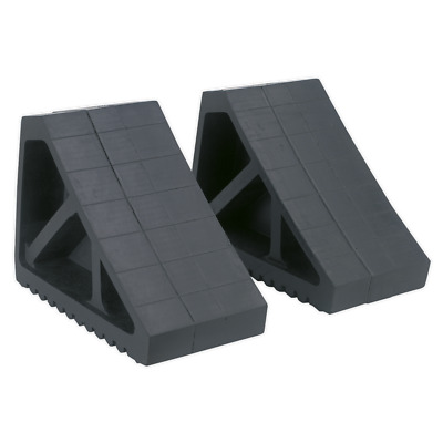 WC02 Sealey Rubber Wheel Chocks 3.3kg - Pair [Ramps & Chocks]