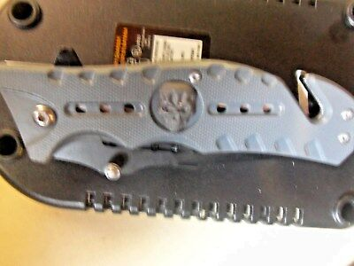 TIGER USA GRAY SKULL Tactical Spring Assisted Rescue Open Folding Pocket Knife