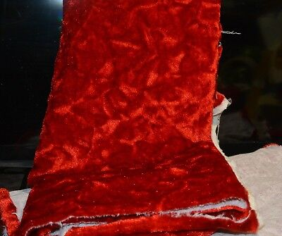 """Malden Mills fabric for mini bears - Red  2 pieces 12"""" by 28"""" other 12"""" by 28"""""""