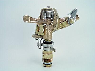 "1 Rebuilt 1970 Old School All Brass Rain Bird #25Pjtnt 1/2"" Adj Brass Sprinkler"