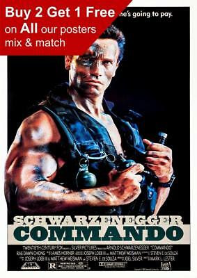 Commando 1985 Movie Poster A5 A4 A3 A2 A1