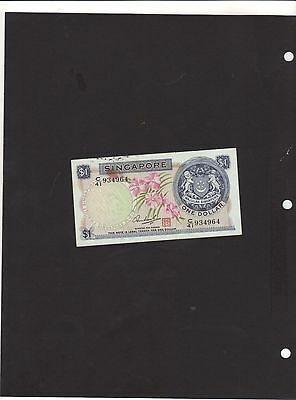 Singapore $1 One Dollar Banknote - Orchid - Cir,