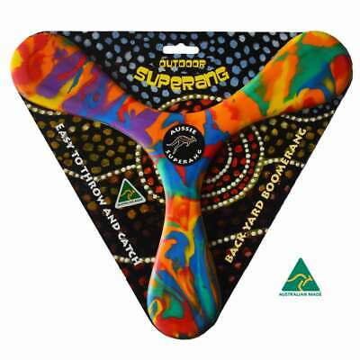 Australian Made Returning BACKYARD BOOMERANG AUSSIE SUPERANG  SOFT SAFE FOAM