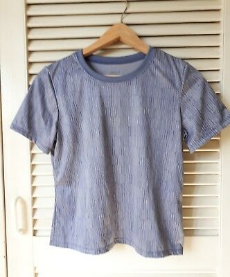 PATAGONIA Women's Blue Capilene Short-sleeve T-Shirt Sz S