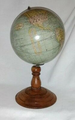 "Antique -1892 Rand McNally & CO. 6""  NEW Terrestrial Globe - OUTSTANDING"