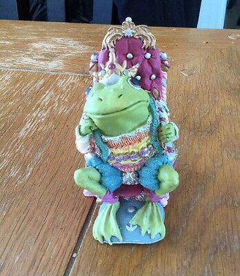 King Ribbitt, Camelot Frogs by Hamilton Collection, 1996 Free Shipping!