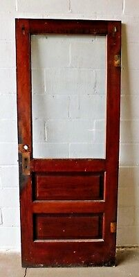 Antique Craftsman Style Two Panel Entry Door - C. 1905 Fir Architectural Salvage