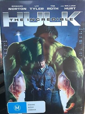 The Incredible Hulk -  DVD - Region 4 - Edward Norton - Free Post!