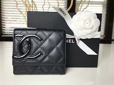 2cbc0bd316a3 AUTHENTIC CHANEL LEATHER CAMILLA Quilted Chain BAG PURSE Flap ...