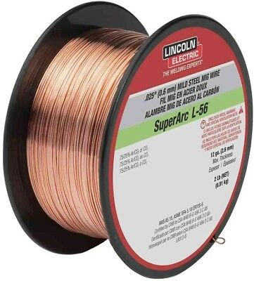 Lincoln Electric .025 in. SuperArc L-56 ER70S-6 MIG Welding Wire for Mild Steel