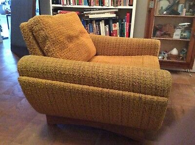Danish Modern WESTNOFA Upholstered Lounge Chair - RARE STYLE