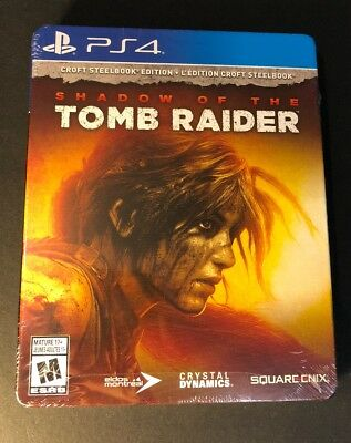 Shadow of the Tomb Raider [ CROFT STEELBOOK Edition ] (PS4) NEW