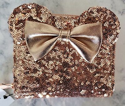 Disney Parks Exclusive Rose Gold Loungefly Sequin Minnie Wallet SOLD OUT