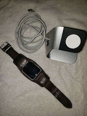 Apple Watch (1st generation) 42mm Stainless Steel Silver A1554 Sapphire Crystal