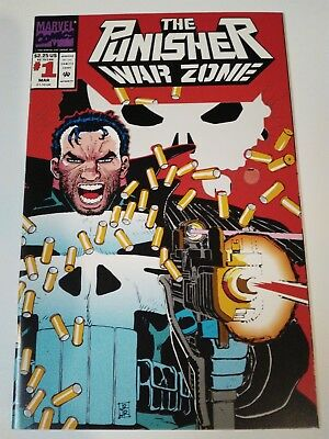 The Punisher: War Zone #1  Die cut cover (Mar 1992, Marvel)