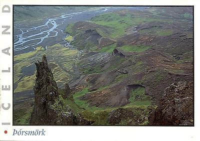 Iceland  -  A view of Thorsmörk - a popular outing and recreation area