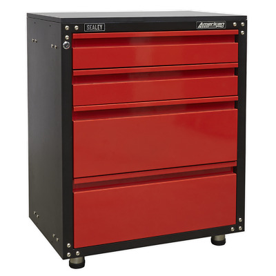 APMS84 Sealey Modular 4 Drawer Cabinet with Worktop 665mm Storage Systems