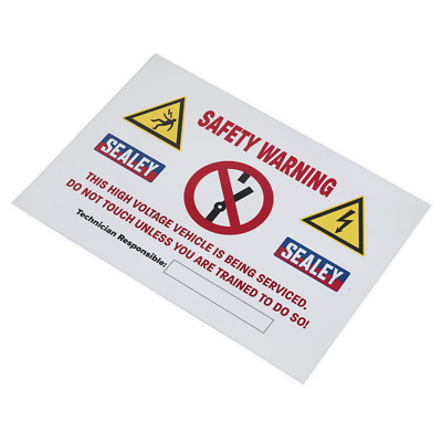 HYBRIDSIGN Sealey Hybrid/Electric Vehicle Warning Sign [Electrics Miscellaneous]