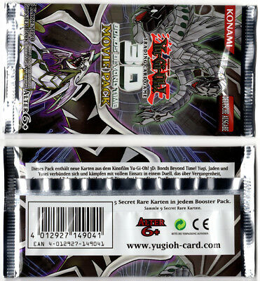 Yu-Gi-Oh! 3D Bonds Beyond Time Movie Pack Booster neu original selten YMP1-DE