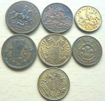 7 X Different/ Different Size Victoria Gaming Tokens