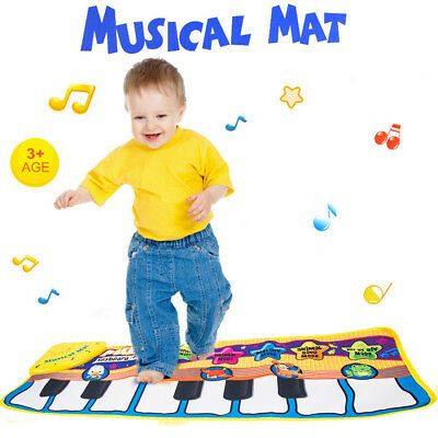 Baby Musical Lay & Play Mat Fitness Music And Lights Fun Piano Toys NEW CA