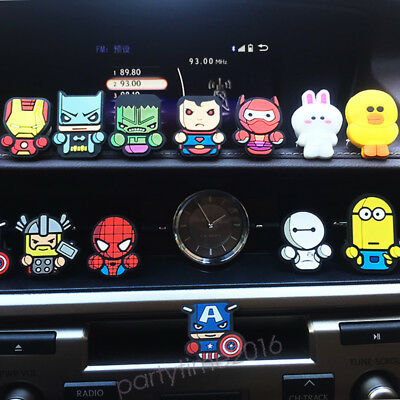 Cartoon Avengers Air Freshener Car Styling Fragrance Air Condition Vent Outlet