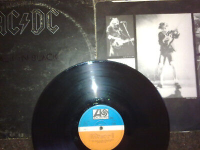 LP Vinyl AC DC BACK IN  BLACK Erstausgabe Jugoslawien  ATL different Label Suzy