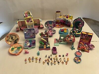 vintage polly pocket bundle with Figures And Accessories