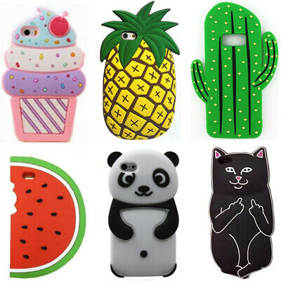 3D Cute Cartoon Silicone Phone Case Soft Rubber Cover Skin For iphone 5S 6 7 8 X