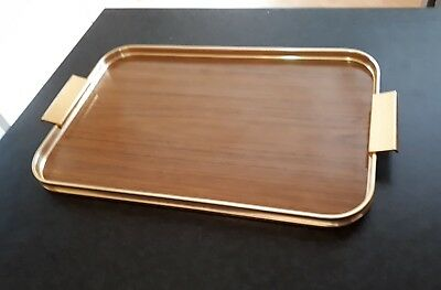VINTAGE SERVING TRAY by GROSVENOR - GOLD COLOUR