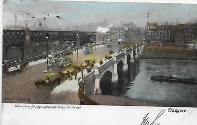 Glasgow, Bridge showing Jamaica Street; posted 1904 to Coventry, Painting?