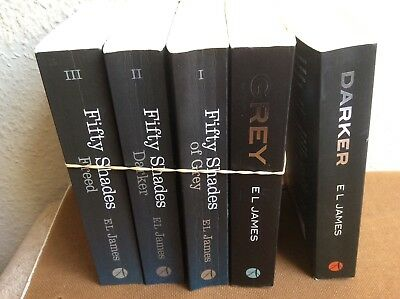 El james bundle , set of 5  books, fifty shades of grey