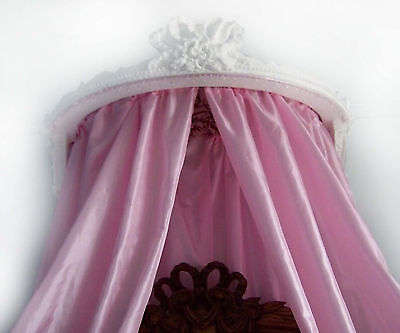 Antique French bed ciel de lit princess bed canopy shabby chic Chateau style.