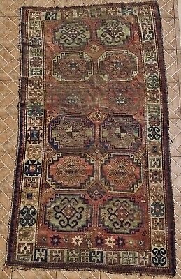 Antique Caucasian Moghan Rug, Signed and dated