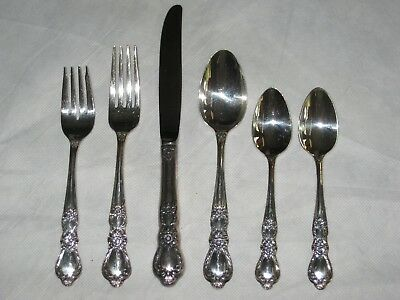 1847 Rogers Bros Heritage 6-PIECE PLACE SETTING IS International Silverplate