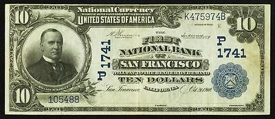 San Francisco, CA - $10 1902 Date Back Fr. 619 The First NB Ch. # (P)1741