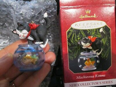 HALLMARK Keepsake Mischievous Kitten  Christmas ornament  1999