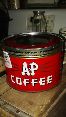 Vintage*A&P*Coffee Can*Litho.*1LB*THE GREAT ATLANTIC & PACIFIC TEA CO.*New York