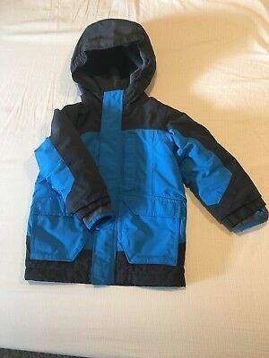 Land's End Kids Toddler 2T Squall Winter Coat Blue/Grey Windproof Waterproof