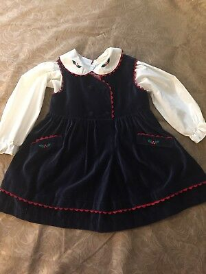 Vintage Baby Holiday Dress - 2 Piece. Made In The Philippines