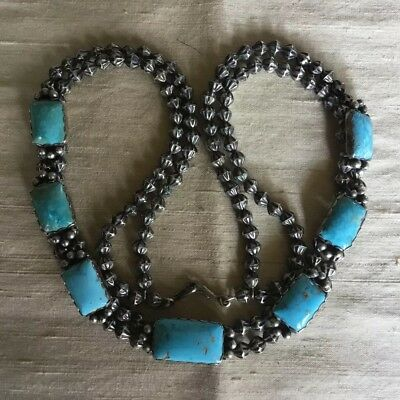Vintage Navajo Sterling/turquoise Necklace