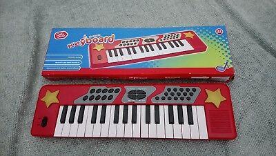Children's Toy Piano Keyboard Red