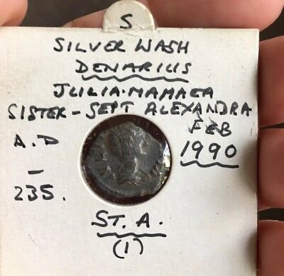 Ancient Roman Silver Coin Denarius Julia Mamaea (c.222-235) Metal Detecting Find