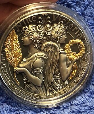 2018 2 Oz Silver $5 VICTORIA AND NIKE Strong & Beautiful Goddesses Coin 500 Mint