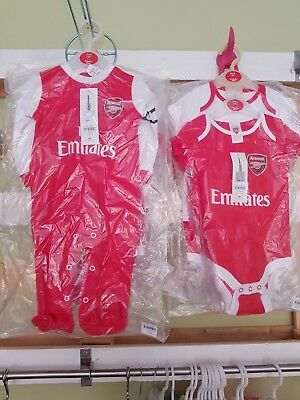 Joblot arsenal Baby Clothes Bnwt Assorted Sizes 9 items